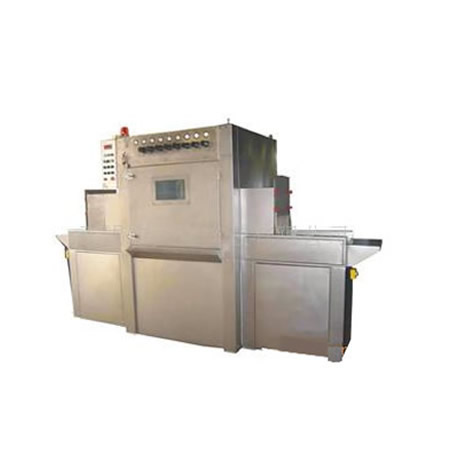 不锈钢平面输送式自动液体喷砂机